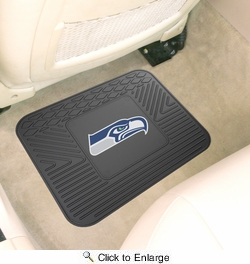 "Fan Mats 9972  NFL - Seattle Seahawks 14"" x 17"" Vinyl Utility Mat (1 each)"