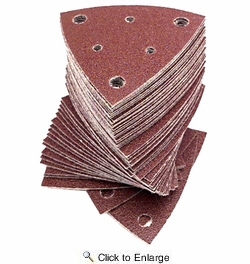 Fein 6-37-17-110-01-5  Triangular Hook & Loop Sanding Sheets w/Dust Extraction Holes 80 Grit 50 per Package (63717110015)