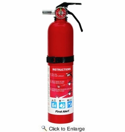 First Alert HOME1  1-A:10-B:C Rechargeable 2-1/2-lb Home Fire Extinguisher