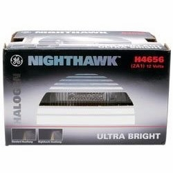 GE Lighting H4656NH  Automotive Low Beam Light Sealed Beam Nighthawk Headlight Bulb (25098) 1 Lamp per Box