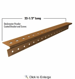 "Grabber DMP100-10  Deckmaster Hidden Deck Bracket System Brown Powder Coat Brackets and Screws for 3/4"" Hardwood and Hollow-Core Composites - 10 Bracket Pack"