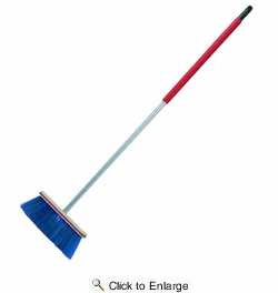"""Harper Brush 11202A  12"""" Rough Surface Upright Broom w/Handle"""
