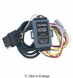 hopkins 43105 litemate vehicle to trailer wiring kit (pico 6756pt)  1994-2002 honda accord, 1997-2006 crv, 2003-2005 element