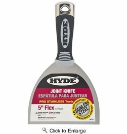"Hyde 06778  5"" Flexible Pro Stainless Joint Knife"
