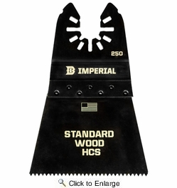 """Imperial Blades IBOA250-1  Universal Fit 2-1/2"""" Fast Wood HCS Saw Blade - 1 per Package"""