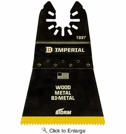 """Imperial Blades IBOAT337-3  Universal Fit 2-1/2"""" Wood with Nails BiMetal Tin Storm Saw Blades - 3 per Package"""
