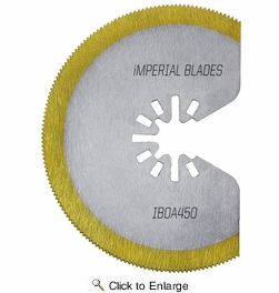 """Imperial Blades IBOAT410-1  Universal Fit 3-1/8"""" Segment HSS Titanium Storm Saw Blade - 1 per Package"""