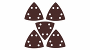 Imperial Blades  IBOTSPH180-5  Universal Fit Triangular 180 Grit Sandpaper Attachment - 5 Per Package