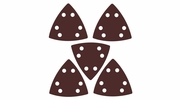 Imperial Blades  IBOTSPH220-5  Universal Fit Triangular 220 Grit Sandpaper Attachment - 5 Per Package