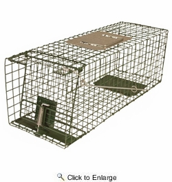 """Intruder 24200  Relocator Live Trap - Small Assembled Easy Set & Release with Bayonet Latch  18-1/2"""" x 5"""" x 5"""""""