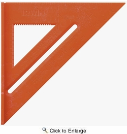 """Irwin 1794466  8"""" Poly Rafter Square High Vis Orange"""
