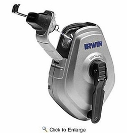 Irwin 1932889  Combo Chalk Reel 100' Mach 6 With 4 Oz Red
