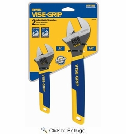 "Irwin 2078700  Vise-Grip 2-Piece Adjustable Wrench Set 6"" and 10"""