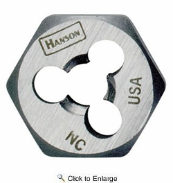 "Irwin 7252  Hanson 5/8""-11 NC Thread Right Hand Rethreading Hexagon Die"