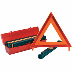 James King 1005 Highway Safety Warning Triangles Kit of 3 with Case