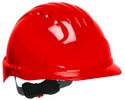 JSP 280-EV6151-60  Evolution Deluxe - Standard Brim Hard Hat With 6 Point Polyester Suspension And Wheel Ratchet Adjustment - Red