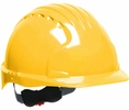 JSP 280-EV6151V-20  Evolution Deluxe - Standard Brim Vented Hard Hat 6 Point Polyester Suspension With Wheel Ratchet Adjustment - Yellow