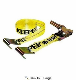 """Keeper 04623  2"""" x 27' Commercial Ratchet Tie Down with Flat Hook"""