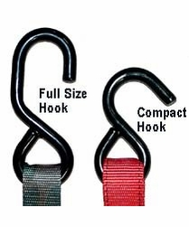 "Keeper 05110  1"" x 10' Cam Buckle Tie Down with Full Size Hooks"