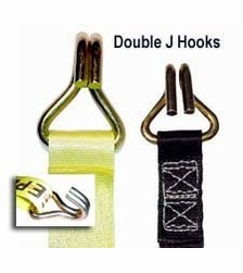 """Keeper 05519  1-3/4"""" x 15' Ratchet Tie Down Strap with Double J Hooks"""