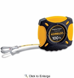 "Komelon 7100  100' x 3/8"" MagGrip Gripper Steel Magnetic Tip Tape Measure"