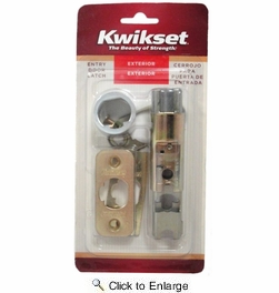 Kwikset 19841-3  6-Way Adjustable Replacement Dead Latch - Polished Brass