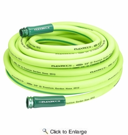 "Legacy HFZG575YW  Flexzilla 5/8"" X 75' Garden Hose Assembly with 3/4""- 11-1/2"" GHT Fittings"