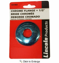 """Lincoln 101901  Chrome Plated Sure Grip Flange for 1/2"""" Iron Pipe"""