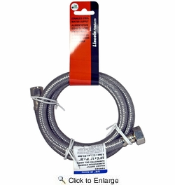 """Lincoln 109585  3/8"""" OD Comp Nut x 1/2"""" FIP Stainless Steel Lavatory Supply Line - 36"""" Length"""