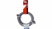 "Lincoln 109585  3/8"" OD Comp Nut x 1/2"" FIP Stainless Steel Lavatory Supply Line - 36"" Length"