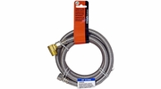 "Lincoln 109658  3/8"" OD Comp Nut Stainless Steel Dishwasher Supply Line - 60"" Length"