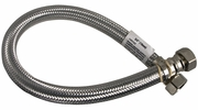 "Lincoln 109722  3/4"" FIP Stainless Steel Water Heater Supply Line - 24"" Length"