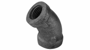 "Lincoln 440024  1/2"" 45 Degree Elbow Galvanized Pipe Fitting"