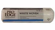 """Linzer RC102-9  Pro Edge 1/2"""" x 9"""" White Woven Roller Cover"""