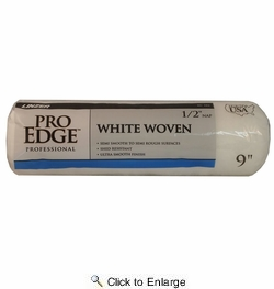 "Linzer RC102-9  Pro Edge 1/2"" x 9"" White Woven Roller Cover"