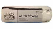 """Linzer RC108  Pro Edge 3/4"""" x 9"""" White Woven Roller Cover"""