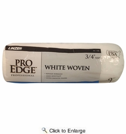 "Linzer RC108  Pro Edge 3/4"" x 9"" White Woven Roller Cover"