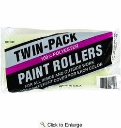 """Linzer RC133-9  Polyester 9"""" Roller Covers with 3/8"""" Nap - 2 per Package"""