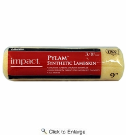 "Linzer RC143  Impact 3/8"" x 9"" Pylam Synthetic Lambskin Roller Cover"