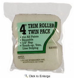 """Linzer RR9502  Project Select 4"""" Roller Cover with 1/2"""" Nap - 2 per Package"""