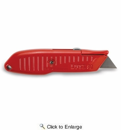 Lutz 30582  #82 Safety Nose Retractable Blade Utility Knife - Red (82-RD)
