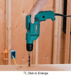 "Makita 6408  3/8"" Variable Speed and Reversible Drill with Keyless Chuck - 4.9 Amp"