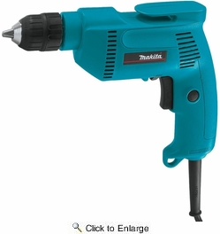 "Makita 6408K 3/8"" Variable Speed 4.9 Amp Drill with Keyless Chuck and Storage Case"