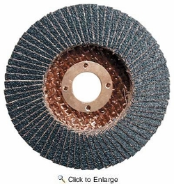 """Makita 741811-B  4"""" with 5/8"""" Arbor Angled Design 60 Grit Depressed Center Wheels for Wood and Plastic"""