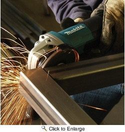 """Makita 9564PC   4-1/2"""" High-Powered Paddle Switch Angle Grinder - 13 Amp"""