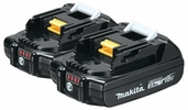 Makita BL1820B-2  18-Volt Compact Lithium-Ion Replacement Cordless Battery with L.E.D. Indicator - 2 Ah - 2 Per Package