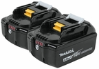 Makita BL1840B-2  18-Volt Compact Lithium-Ion Replacement Cordless Battery with L.E.D. Indicator - 4 Ah - 2 Batteries per Package