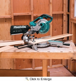 "Makita XSL02Z  7-1/2"" 18 Volt X2 LXT Lithium-Ion Brushless Cordless Dual Slide Compound Miter Saw (Tool Only)"