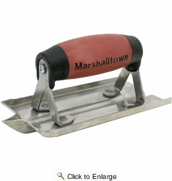 """Marshalltown 180D  6"""" x 3"""" Stainless Steel Concrete Groover with DuraSoft Handle (14102)"""