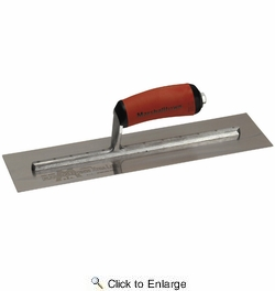 "Marshalltown MXS57D  14"" x 3"" Xtralite Finishing Trowel with Curved DuraSoft Handle (13225)"